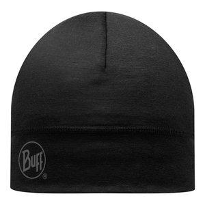 MERINO WOOL HAT BUFF® SOLID BLACK