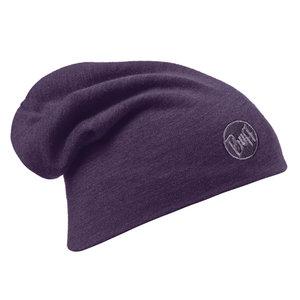 MERINO WOOL THERMAL HAT BUFF® SOLID PLUM