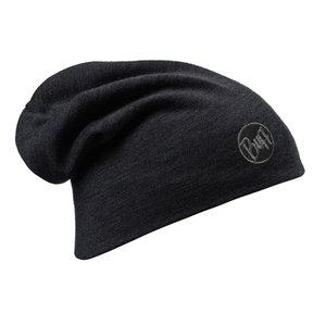 MERINO WOOL THERMAL HAT BUFF® SOLID BLACK