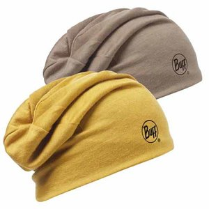 MERINO WOOL 2 LAYERS HAT BUFF® SOLID TOBACCO
