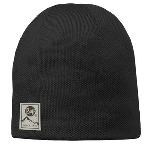 KNITTED & POLAR HAT BUFF® SOLID BLACK