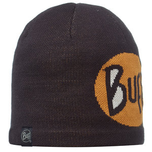 KNITTED & POLAR HAT BUFF® LOGO BLACK