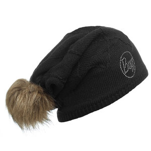KNITTED & POLAR HAT BUFF® STELLA CHIC BLACK